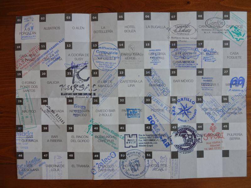 Tapas stamp card