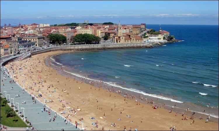 San Lorenzo beach, Gijón