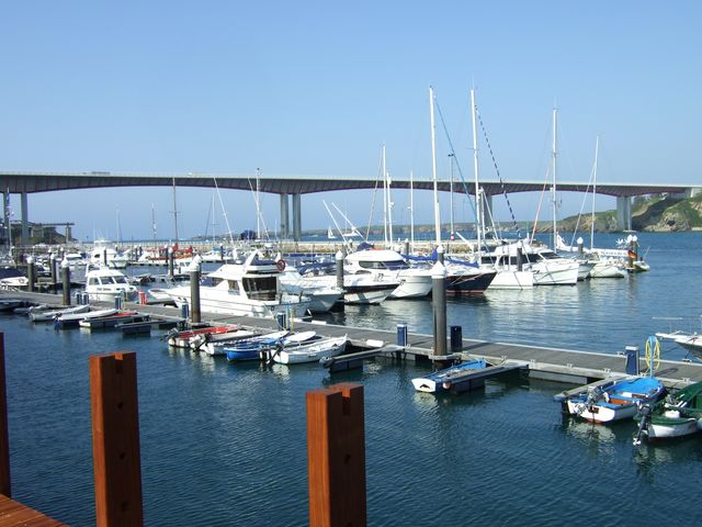 Ribadeo bridge and marina
